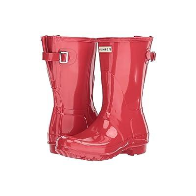 Hunter Original Back Adjustable Short Gloss Rain Boots (Flare) Women