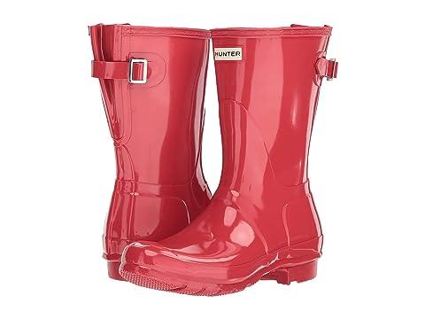 Hunter Boots Back Original Rain Adjustable BlackFlare Gloss Short pg84wp1q