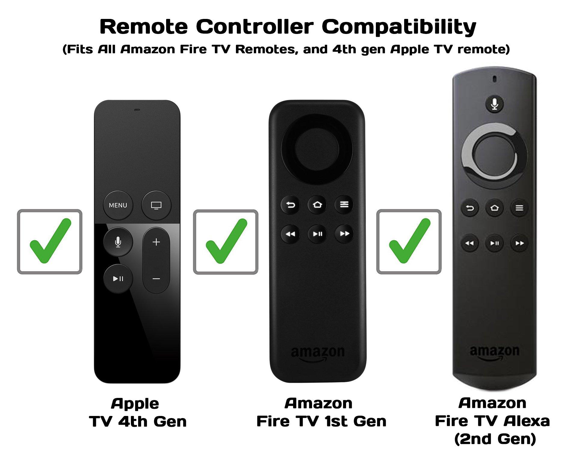 TechTidy - Soporte para Mando a Distancia de Fire TV (1ª generación), Color Negro: Amazon.es: Electrónica