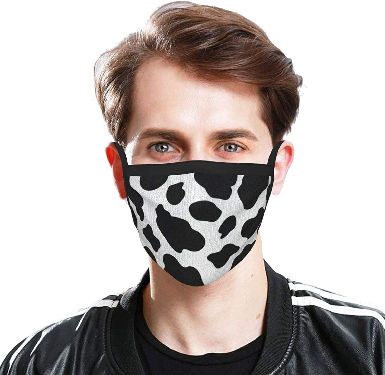 Cow Print Men & Women Face Cover Bandana, Multifunctional Headband Scarf Neck Gaiter Balaclava