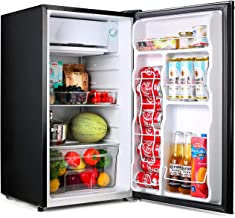 Compact refrigerator, TACKLIFE Mini Fridge with Freezer, 3.2 Cu.Ft, Silence, 1 Door, Black, Ideal Small Refrigerator for Bedroom, Office, Dorm, RV - MPBFR321
