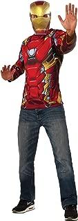 Costume Co Captain America: Civil War Iron Man Costume Top & Mask, Multi, Standard