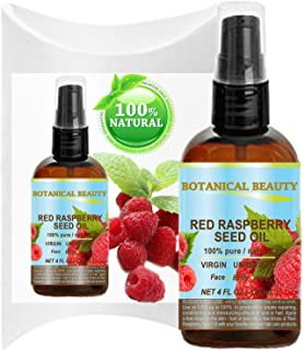 RED RASPBERRY SEED OIL 100% Pure / Natural / Virgin. Cold Pressed / Undiluted Carrier Oil. For Face, Hair and Body. 4 Fl.o...