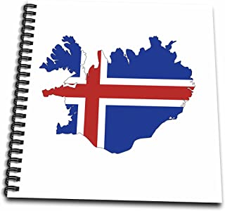 3dRose db_279998_2 Memory Book - Image of Flag of Iceland Makes Up Map Outline, 12 x 12, Clear