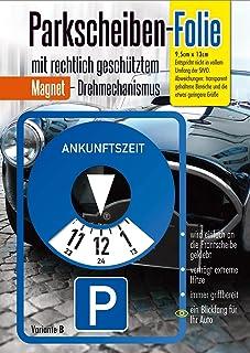 Andre Kulakowski Parkeerschijf sticker variant B folie sticker etiket zelfklevend.