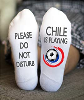 Chile Futbol Socks Men Copa America Birthday Torneo Game
