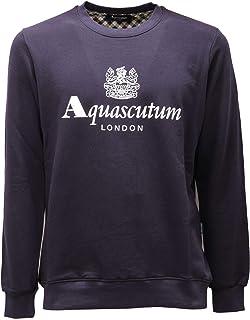 Aquascutum Waterfield Logo Navy Sweatshirt