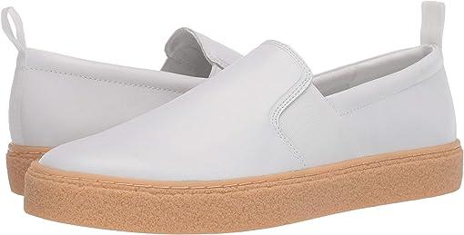 White/Small Grain Leather