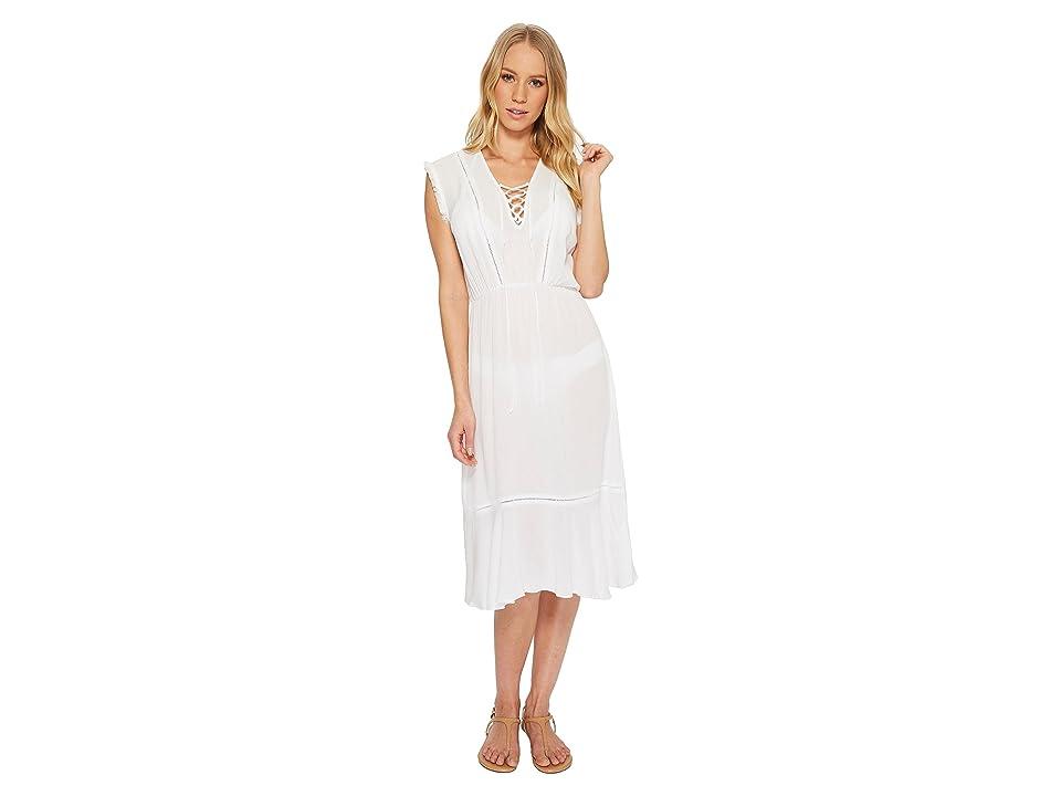 Splendid Tie Front Dress Cover-Up (White) Women