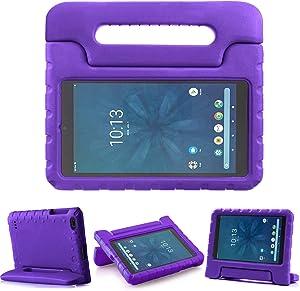 TIRIN Walmart Onn 8 Inch Tablet Case, Light Weight Shockproof Handle Friendly Convertible Stand Kids Case for Walmart Onn 8 inch Android Tablet 2019 Release Model ONA19TB002 NOT for 2020 Gen 2- Purple