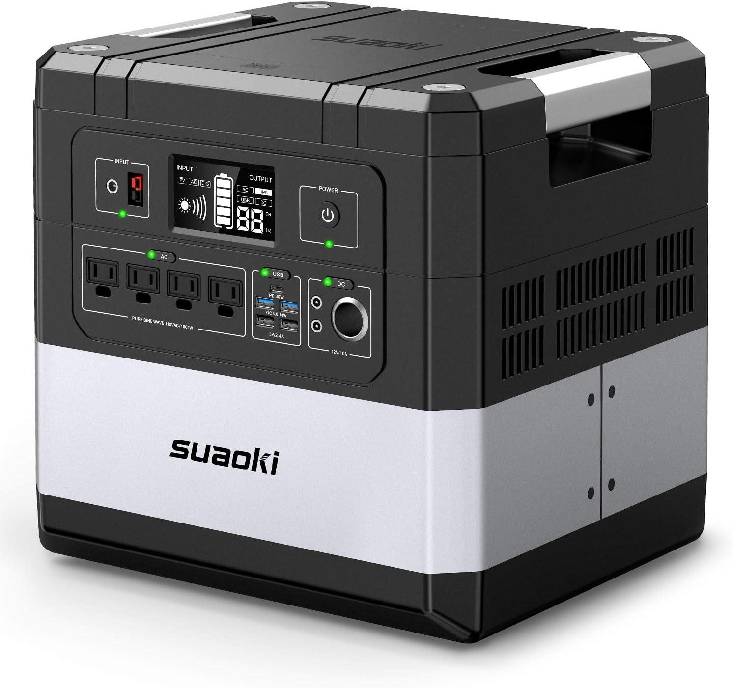suaoki ポータブル電源 G1000 超大容量 369600mAh/1182.72Wh