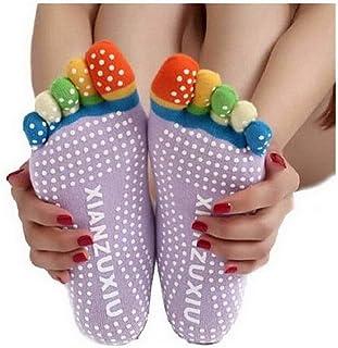 Ahatech - Calcetines de yoga para mujer, cinco dedos