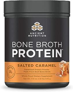 Ancient Nutrition Bone Broth Protein Powder, Salted Caramel Flavor, 17.8oz