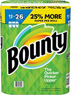 Bounty Select-a-Size Paper Towels, White, 12 Huge Rolls=26