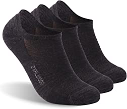 No Show Athletic Socks, ZEALWOOD Unisex Merino Wool Ultra-Light Running Tennis Golf Socks 1/3 Pairs