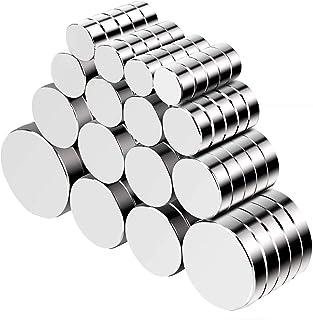 Jewan 80 Pcs imanes de neodimio potentes, refrigerador redondo, disco con imán para nevera (tamaños múltiples), imanes par...