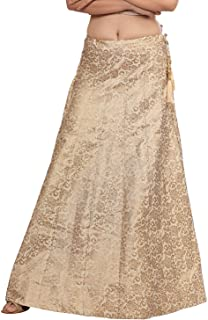 Indian Dresses Store Dream & Dzire Women's Cotton Golden Skirt for All Plus Size and Small Size (143-GOLDEN)