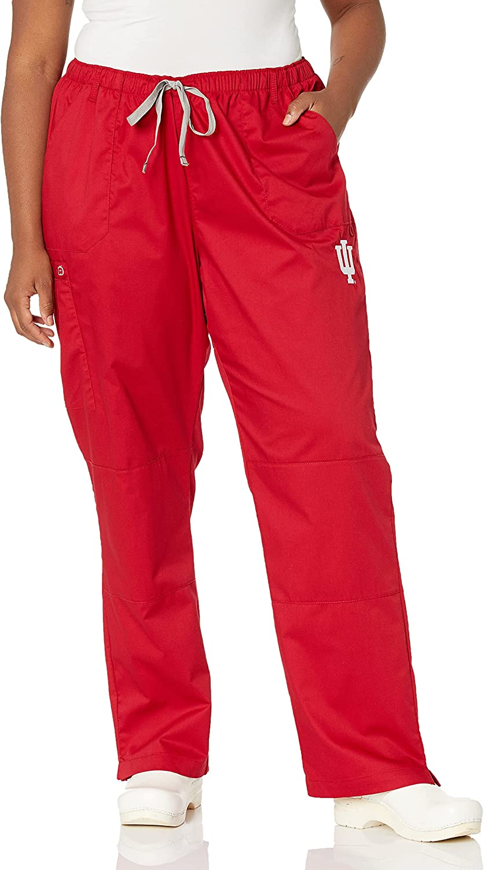 WonderWink Women's Indiana University Straight Leg Cargo Pant