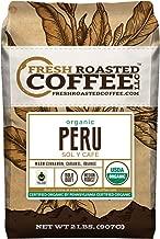 Fresh Roasted Coffee LLC, Organic Peruvian Sol y Café Coffee, USDA Organic, Medium Roast, Whole Bean, 2 Pound Bag