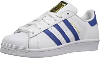 adidas Originals Kids' Superstr Foundation, White/EQT Blue/EQT Blue, 6.5 M US Big Kid