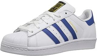 adidas Originals Kids' Superstr Foundation, White/EQT Blue/EQT Blue, 6.5 M US Big Kid