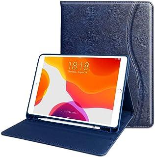 iPad 8 ケース iPad 10.2 ケース 第8世代 高級PUレザー製 Apple Pencil収納可能 オートスリープ機能 ポケット付き 指紋防止 傷つけ防止 全面保護 手帳型 Apple iPad 10.2インチ /iPad Air3...