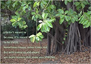 Life Isn'T Meant To Be Easy...Strong - A4 Inspirational Laminated Photo Poster