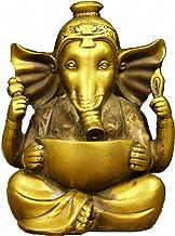 Brass Ganapati Ganesh Lord Ganesha Elephant Buddha Statue (21#)