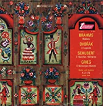 Walter and Beatrice Klien Piano Duet: Brahms Waltzes, Op. 39 Dvorak 3 Legends, Op. 59 Schubert 3 Marches Militaires D. 733 Grieg Four Norwegian Dances, Op. 35