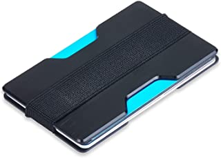 Minimalist Aluminum Slim Wallet RFID BLOCKING Money Clip