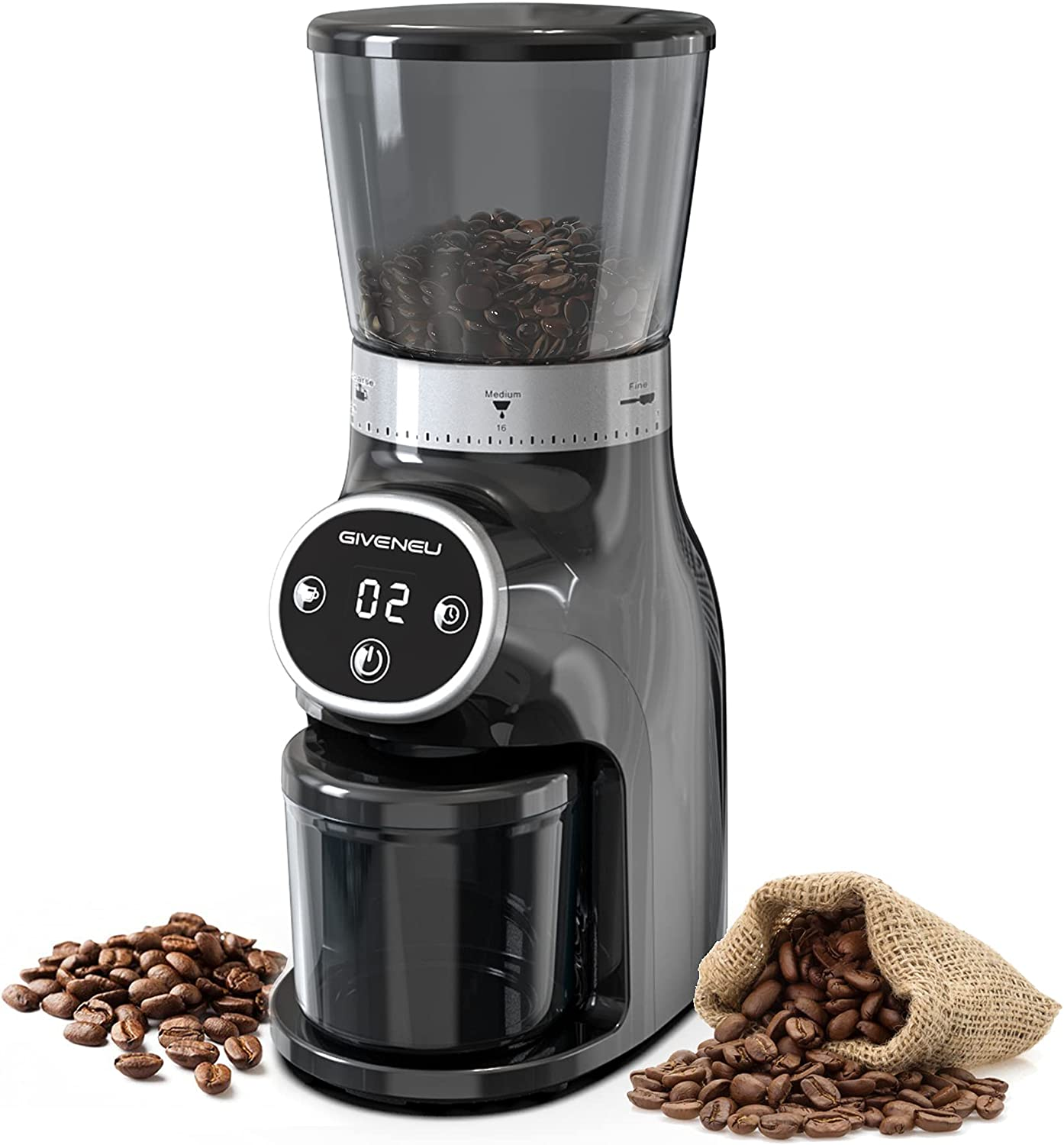 New Outstanding popularity Conical Burr Coffee Grinder GIVENEU Electric B Mill