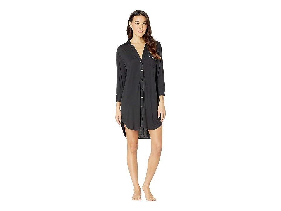 UGG Vivian Knit Sleepshirt (Black) Women