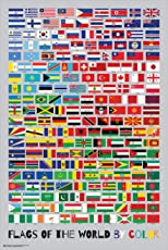 "Frame USA ""Flags of The World by Color Poster (Unframed)(24x36)"
