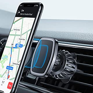 LISEN Magnetic Phone Car Mount, [Upgraded CLAMP] Magnetic Car Phone Holder [6 Strong Magnets] Cell Phone Holder for Car [CASE Friendly] iPhone Vent Mount Compatible with All Smartphone and Tablets