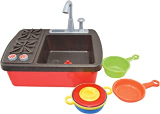 Gowi 47005496 Sink with Pump and Stove with Zuhebör Bunt