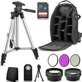 Professional 55MM Accessory Bundle Kit for Nikon D3400 D5600 D3300 AF-P & DSLR Cameras, 12 Accessories for Nikon