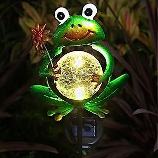 Litake Frog Garden Solar Lights Outdoor, Metal Frog Garden Decor Stake for Outside, Decorative Solar Frog Stake Lights for...