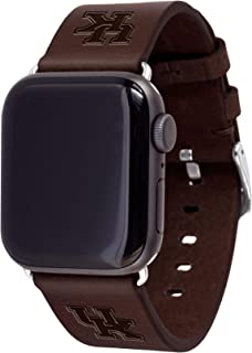 AFFINITY BANDS of Kentucky Wildcats Top Grain Oil Tanned Leather Band Compatible with The Smartwatches - Available in Three Leather Colors - Long Length - Band ONLY