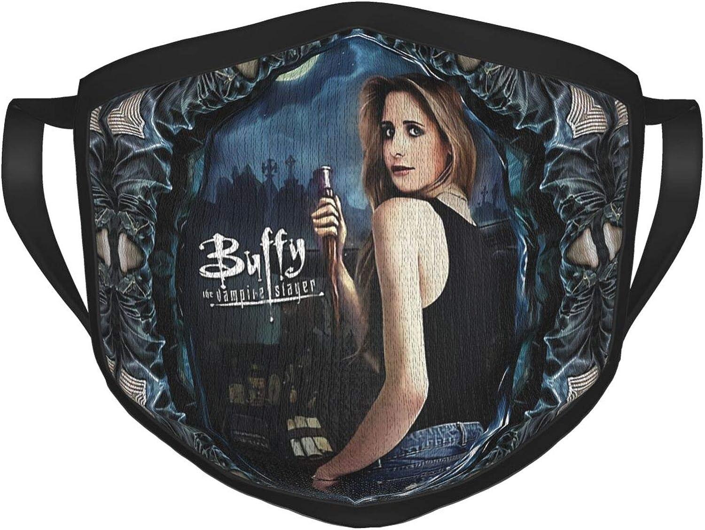 Buffy The Vampire Slayer Unisex, Comfortable, Breathable, Reusable and Washable Balaclava dustproof Cotton face mask Black