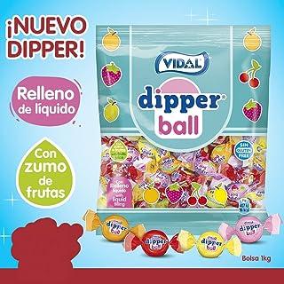 Dipper Ball VIDAL Caramelos con relleno liquido (Naranja,