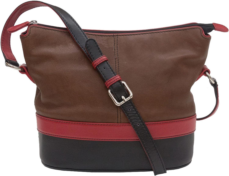 ili Leather Super special price Color Max 72% OFF Shoulder Handbag Block