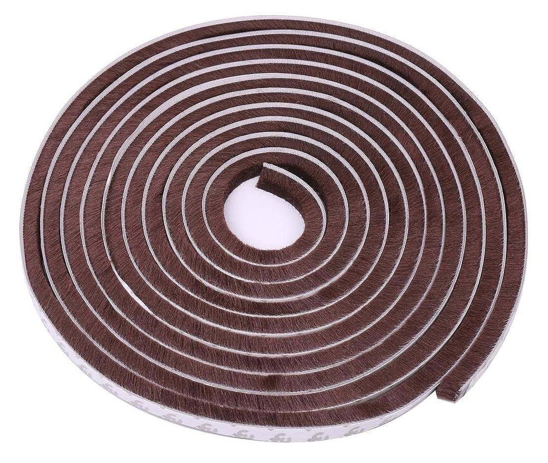速記バランスのとれたディスク隙間テープ 窓 ドア 防風 防音 防水 防虫 毛足 5m ブラウン 隙間 対策 テープ