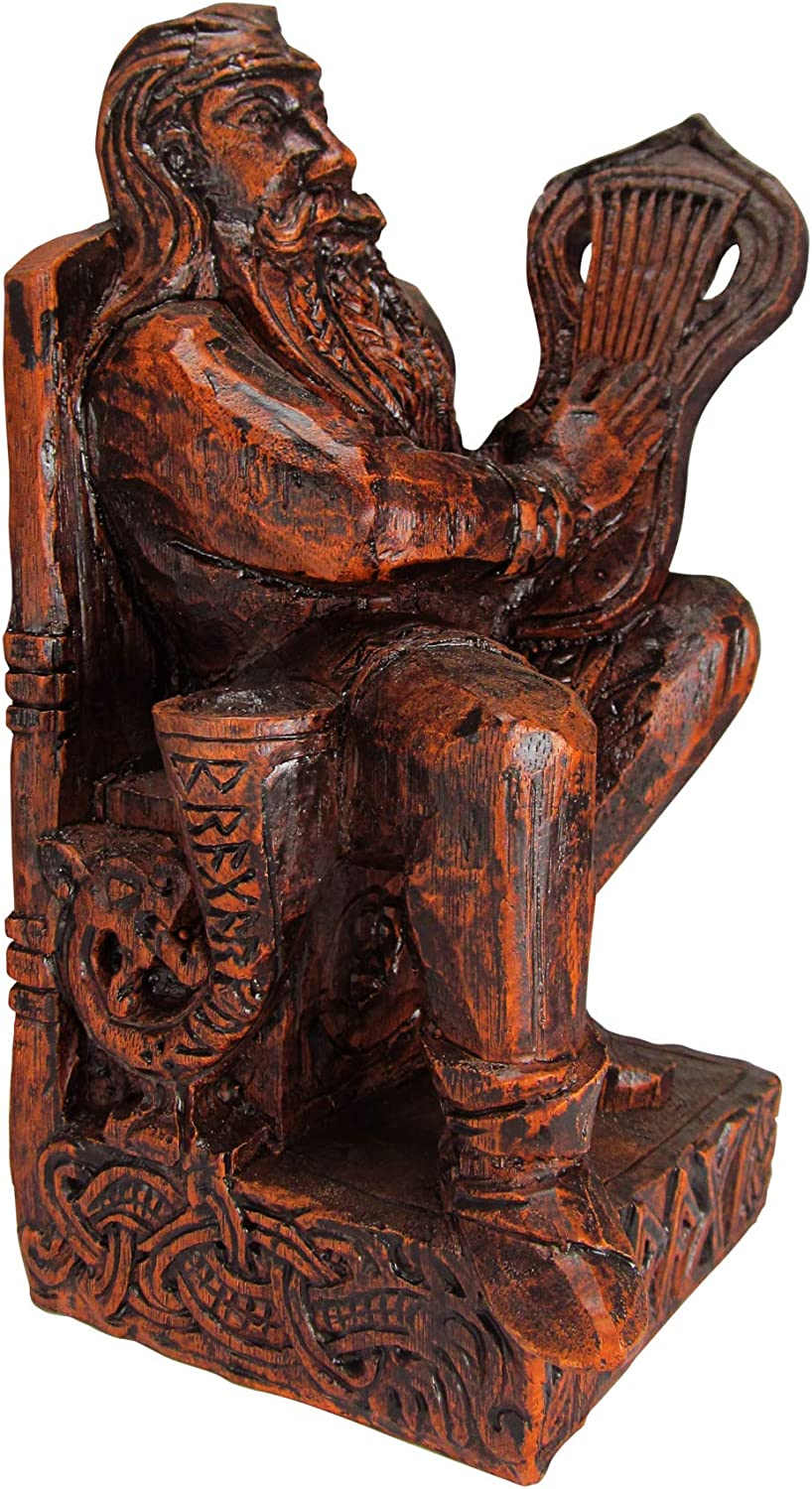 Dryad Design Seated Bragi Detroit Cheap mail order specialty store Mall Statue Norse Poetry and of God Bards
