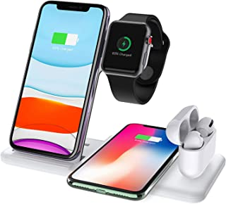 LIHAIZI Good Things Recommended - 15W Qi Fast Wireless Charger Stand For iPhone 11 XR X 8 Apple Watch 4 in 1 Foldable Char...