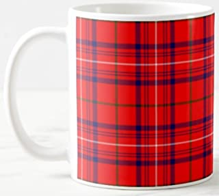 Scottish Clan Rose Tartan on 11 Oz. Ceramic Coffee Mug