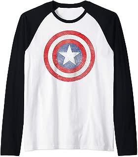Captain America Classic Shield Portrait Raglan Baseball Tee