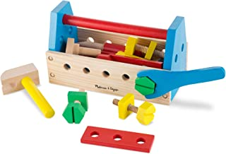 Melissa & Doug Take-Along Tool Kit Wooden Toy (Pretend Play, Sturdy Wooden Construction, 9.9