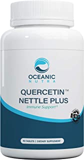 Quercetin Nettle Plus 1000mg Vegetarian Tablets with Stinging Nettle Leaf and Vitamin C. Bioflavonoid Providing Temporary ...