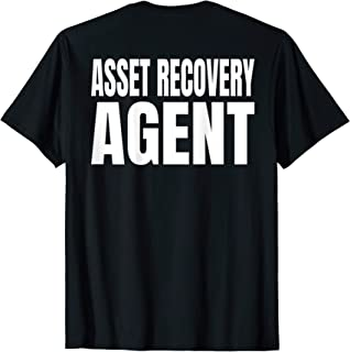 Mens Asset Recovery Agent T-Shirt White Text