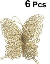 Tinksky 6Pcs Christmas Butterfly Christmas Decorations Christmas Tree Ornaments Wedding Party Decorations 3
